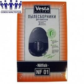 Мешок для пылесоса одноразовый Nilfisk: Compact упаковка 5 шт Веста NF01, Аналоги DAE 01, TH 202 S