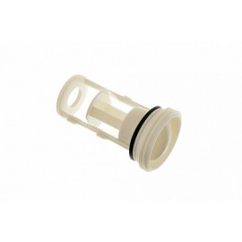 Крышка фильтр сливного насоса для стиральных машин Electrolux, Zanussi, Bosch, Siemens 075801, Аналоги 020172