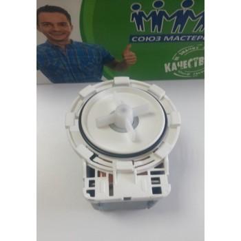 Насос сливной для стиральных машин, помпа PMP GRE 34 W P202 без улитки на защелках 8 шт. клеммы раздельно, Аналоги EP1A1NN 163AK16, 518007601, 1601024, 518000706