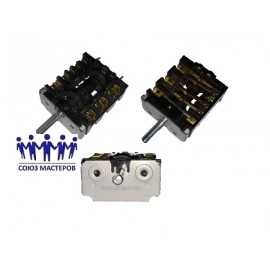 Переключатель для духовки крепеж под термостат 6 позиций, Аналоги COK307UN, 8001690