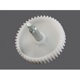 Шестеренка для мясорубок Дива, Panasonic шнековая D 82 мм прямой зуб с металлическим штырем 6 гр. H 77 мм, Аналоги PN001, z41.011-PN